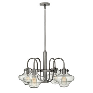 Congress Antique Nickel 16-Inch Four Light Chandelier