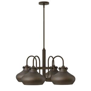 Congress Oil Rubbed Bronze 28-Inch Four-Light Chandelier