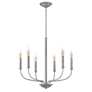 Alister Antique Nickel Six-Light Chandelier