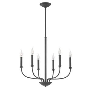 Alister Buckeye Bronze Six-Light Chandelier