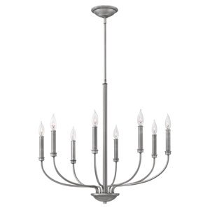 Alister Antique Nickel Eight-Light Chandelier