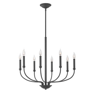 Alister Buckeye Bronze Eight-Light Chandelier