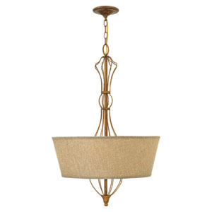Celine Antique Gold Leaf Four-Light Foyer Pendant