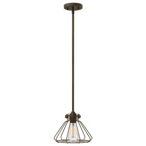 Congress Oil Rubbed Bronze 8.5-Inch One-Light Mini Pendant