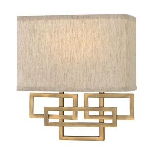 Lanza Brushed Bronze Wall Sconce
