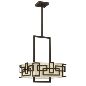 Lanza Oil Rubbed Bronze Three Light Chandelier