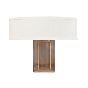 Hampton Brushed Bronze Two-Light Wall Sconce
