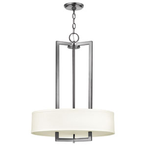 Hampton Antique Nickel Three Light LED Pendant