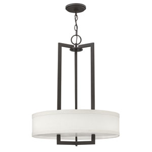 Hampton Buckeye Bronze 26.5-Inch Three-Light Pendant