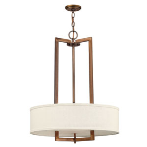 Hampton Brushed Bronze 26-Inch Drum Pendant