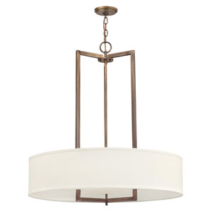 Hampton Brushed Bronze 30-Inch Drum Pendant
