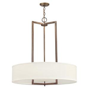 Hampton Brushed Bronze 33-Inch LED Three Light Pendant