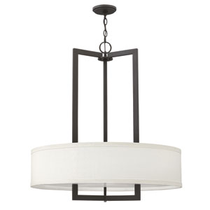 Hampton Buckeye Bronze 33-Inch Three-Light Foyer Pendant