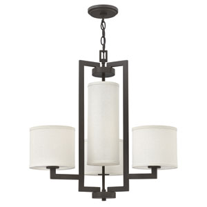 Hampton Buckeye Bronze 24.5-Inch Four-Light Chandelier