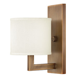 Hampton Brushed Bronze One-Light Sconce