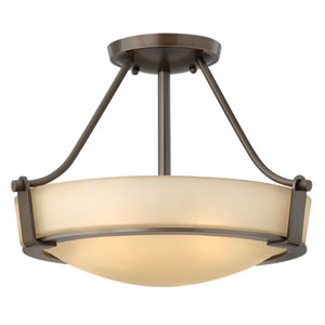 Hathaway Olde Bronze Two Light LED Semi-LED Flush Mount