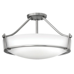 Hathaway Antique Nickel Four-Light Semi-Flush