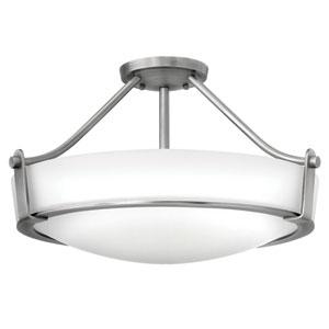 Hathaway Antique Nickel Four-Light Semi-Flush
