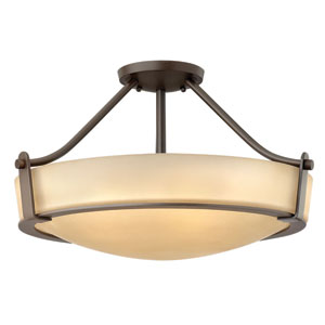 Hathaway Olde Bronze Four-Light Semi-Flush