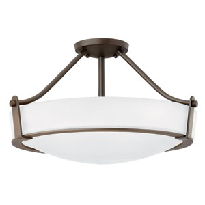 Hathaway Olde Bronze 21-Inch Four-Light Semi-Flush Mount