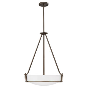 Hathaway Olde Bronze 26.5-Inch Four-Light Foyer Pendant