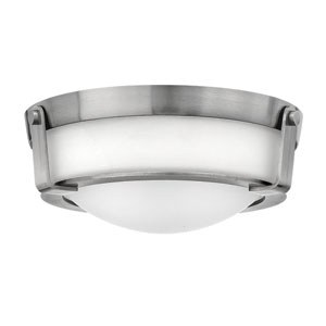 Hathaway Antique Nickel 13-Inch Two-Light Flush Mount