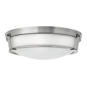 Hathaway Antique Nickel 21.5-Inch Four-Light Flush Mount