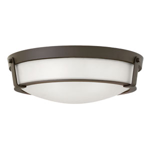 Hathaway Olde Bronze 21.5-Inch One-Light LED Flush Mount