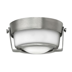 Hathaway Antique Nickel 7-Inch One-Light LED Flush Mount