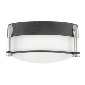 Colbin Aged Zinc LED Flush Mount
