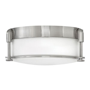 Colbin Brushed Nickel 13-Inch Flush Mount