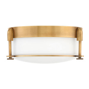 Colbin Heritage Brass Two-Light Flush Mount
