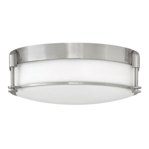 Colbin Brushed Nickel 17-Inch Flush Mount