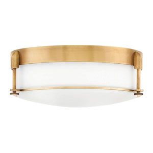 Colbin Heritage Brass Three-Light Flush Mount