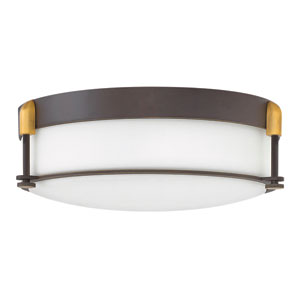 Colbin Oil Rubbed Bronze 17-Inch Flush Mount