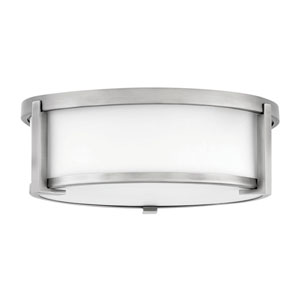 Lowell Antique Nickel Two-Light Flush Mount