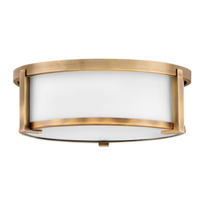 Lowell Brushed Bronze Two-Light Flush Mount