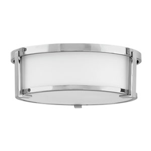 Lowell Chrome Two-Light Flush Mount