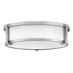 Lowell Antique Nickel Three-Light Flush Mount