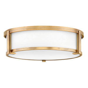 Lowell Brushed Bronze Three-Light Flush Mount