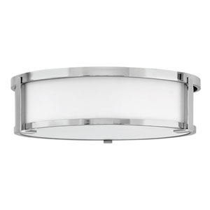 Lowell Chrome Three-Light Flush Mount