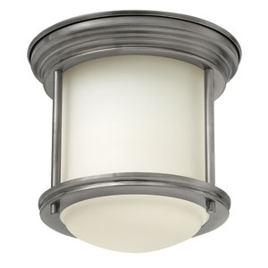Hadley Antique Nickel One-Light Foyer Flush Mount