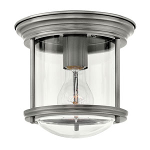 Hadley Antique Nickel 8-Inch One-Light Flush Mount