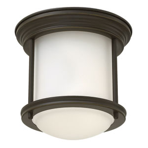 Hadley Oil Rubbed Bronze 8-Inch One-Light Foyer Flush Mount