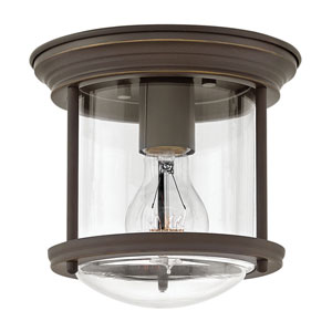 Hadley Oil Rubbed Bronze 8-Inch One-Light Flush Mount