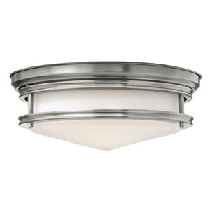 Hadley Antique Nickel 14-Inch Three-Light Flush Mount