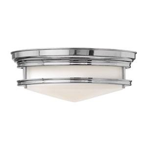 Hadley Chrome 14-Inch Three-Light Flush Mount