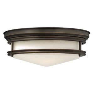 Hadley Oil Rubbed Bronze Flush Mount Foyer Light