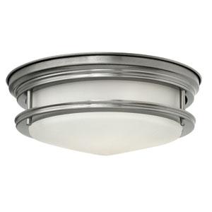 Hadley Antique Nickel 12-Inch One-Light LED Foyer Flush Mount