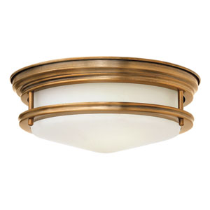 Hadley Brushed Bronze Two Light Flush Mount